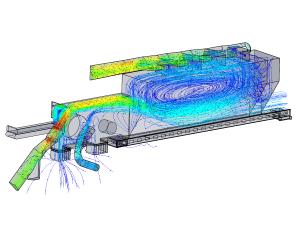 CFD analysis air flow through waste shredder