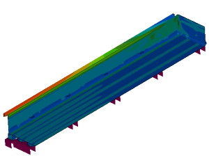 Research thermal deformation roasting oven (coupled CFD-FEM simulation)