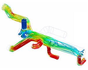 CFD flow analysis collector