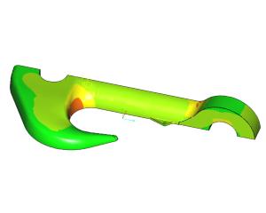 FEM-analyse sterkteklasse ramshoorn haak