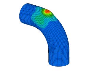 FEM simulation collision branced pipe in duct