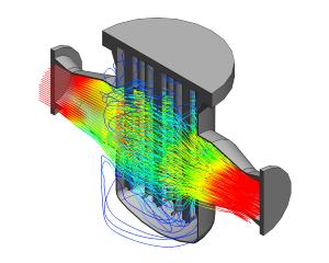 CFD berekening stroming door magneetfilter