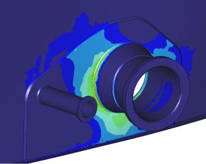 FEM simulation tilting nozzle