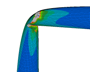 FEM simulation collapsing pipe
