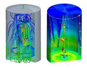 CFD simulatie stroming in tank met roerwerk