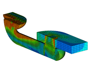 FEM calculation tensile strength shackle