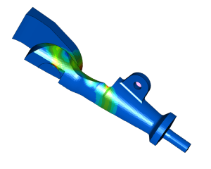 FEA strength analysis breaking load cable socket