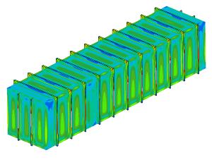 FEM analysis tank with flat walls