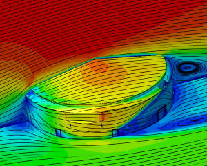 CFD calculation wind pressure on tank