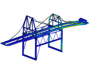 Research dynamic behaviour portal crane (modal and transient FEM)