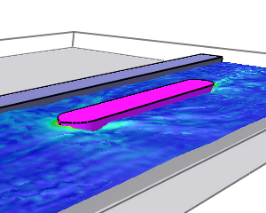 CFD analysis canal shipping