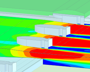 Flow analysis sluice (CFD)