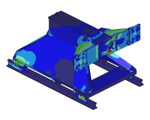 FEM analysis strength and deformation buffer stop