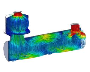 CFD calculation flow through demister