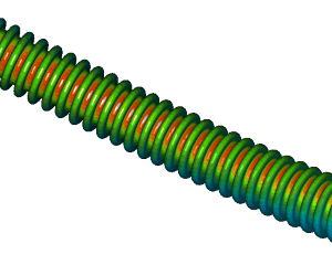 Research lifespan flexible stainless steel hose using FEA analysis