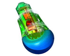 CFD heat analysis LED lamp