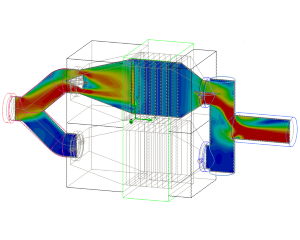 CFD flow analysis scrubber