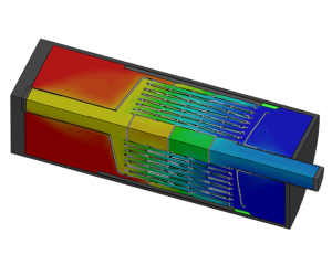 CFD analysis flow and heat transfer heat exchanger