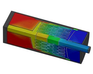 CFD-berekening stroming en warmteoverdracht warmtewisselaar