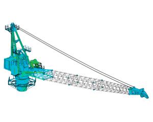 Explosion analysis (blast) crane using FEM