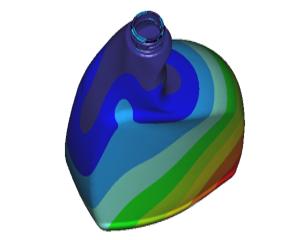 Berekening stijfheid kunststof fles (FEM-analyse)