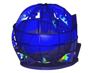 FEM analysis natural frequency flight simulator (Modal analysis)