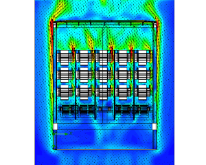 CFD analysis air flow and cooling transformer box