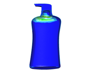 Calculating deformation soap bottle with FEM