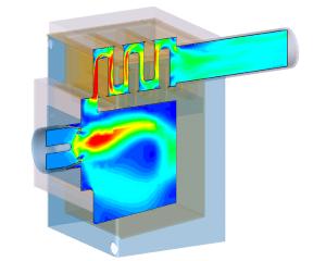 CFD-analyse oliegestookte CV-ketel