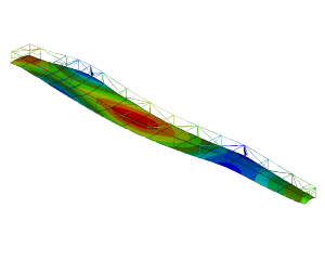 FEM stiffness analysis production mould for wind turbine blades