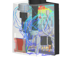 CFD analysis flow air intake boiler