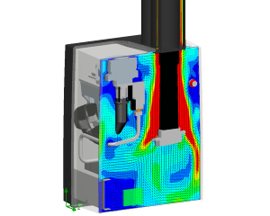 Stromingsberekening CV-ketel (Computational Fluid Dynamics)