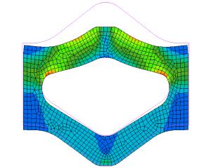Deformatie afdichtingsprofiel (Eindige Elementen Methode)