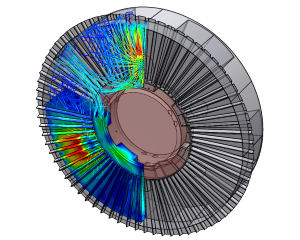 CFD analysis cooling generator wind turbine