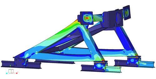 Simulatie sterkteberekening stootblok